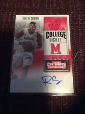 2016 ROBERT CARTER MARYLAND PANINI CONTENDERS COLLEGE TICKET RC AUTO #137