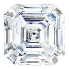 Forever One Asscher 9mm 3.1ct DEF Certified Charles and Colvard