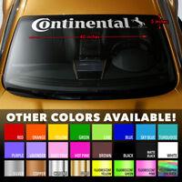 """CONTINENTAL WIDER VERSION Premium Windshield Banner Vinyl Decal Sticker 40x5"""""""