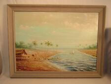 Vintage Oswaldo Moncayo (1923-1984) Ecuador Latin American Oil Painting 25x19