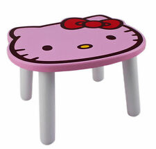 New Sanrio Hello Kitty small chair ~ Kids Wooden STOOL (pink face)
