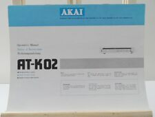 NOTICE MANUEL ORIGINAL OPERATING INSTRUCTIONS AKAÏ AT-K02 TUNER RADIO HIFI
