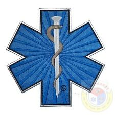 "Star of Life 8"" Patch Medical EMT Paramedic LG Jacket Embroidered Uniform  F 113"