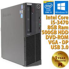PC COMPUTER DESKTOP RICONDIZIONATO LENOVO M92P CORE i5-3470 RAM 8GB HDD 500GB