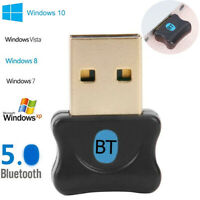 Wireless USB Bluetooth 5.0 Adapter Dongle Audio Receiver For WinXP/Vista 7/8/10