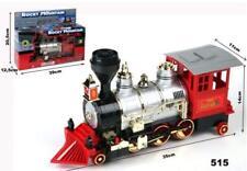 Treno Trenino Locomotiva a Batteria Con Fischio e Fumo Per Bambini Regalo Natale