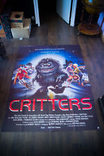 CRITTERS Horror 4x6 ft Vintage French Grande Movie Poster Original 1986