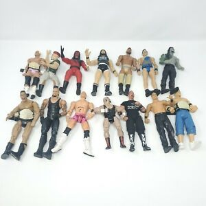 Lot of 14 WWF WWE Action Figures ~ various eras and conditions