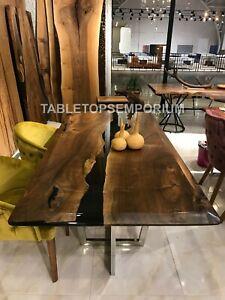 Handmade Epoxy Table, Vivid Edge Special Epoxy Wood Resin table Home Decoration