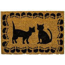 Large Anti Slip Cat Lovers PVC Doormat Outdoor Entrance Natural Coir Matting New