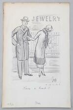 """HARRY C. TEMPLE, American """"have a heart"""" Woman looking at a jewelry window...."""
