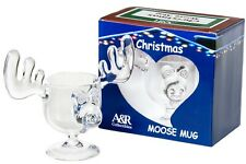 Christmas Eggnog Moose Mug - Holiday Gift Boxed Safer Than Glass