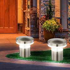 2er Set Design LED Outdoor Steh Stand Sockel Leuchte Weg Garten Veranda 10,5 W