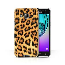 STUFF4 Case/Cover for Samsung Galaxy J3/Leopard Animal Skin/Print/Yellow