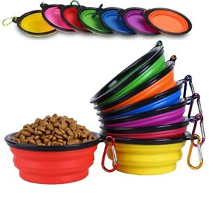 350 Ml Pet Dog Cat Collapsible Feeding Water Food Bowl Travel Camping Portable