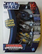 Titanium Series Die-Cast Clone Turbo Tank Droid Tri Fighter Jedi Starfighter