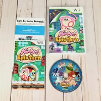 Nintendo Kirbys Epic Yarn Wii Video Game Tested Complete Manual Case Disc