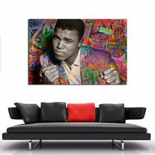 Muhammed Ali Graffiti The Greatest Cassius Clay Gloss or Canvas .. pick a Size