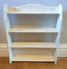Small Vintage Cream Painted Pine Wall Mounting Collectors Shelves (Shelf Unit)