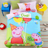 Quilt/Doona/Duvet Cover Set Single Bed 100% Cotton Peppa Pig 100% Cotton Fitted