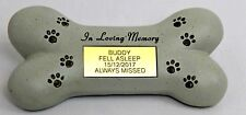 Personalised Pet Dog Bone Memorial Grave Plaque stone Engraved
