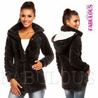 New Sexy Women's Fleece Coat Long Jacket Cardigan Warm Size 6 8 10 12 XS S M L
