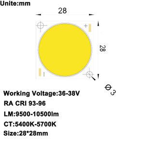 High CRI 95 RA 95-98 High Power COB LED Daylight White 5600K 34-36V 2.5A 100W