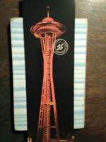 GIANT PHOTO POST CARD 1962 THE WORLDS FAIR SPACE NEEDLE SEATTLE WA