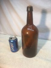 Vtg Brown Glass Apothecary Chemistry Beer half Gallon Jug Steam Punk Looking