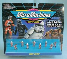 Star Wars Micro Machines Rebel Pilots Galoob 66080 New On Card 1994