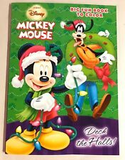 Mickey Mouse Christmas Coloring Activity Book Deck the Halls Holiday Gift New