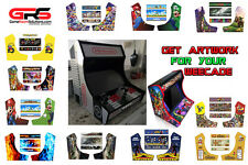 Bartop Artwork Pack Fits Weecade - Vinyl w Rapid Air, Back Lit Marquee PSD Incl
