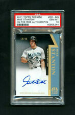 2011 Mike Stanton Topps Tier One On the Rise On-Card Auto /99 PSA 10 GEM MT