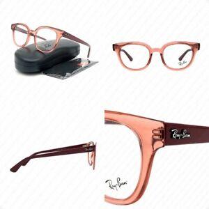 Ray Ban RX4324V 5942 50mm Transparent Light Red w/Plastic Demo Lens Eyeglasses