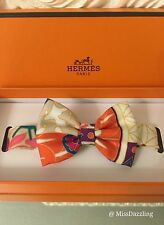 New Authentic Hermes Imperiales Multicolor 100% Silk Kelly Birkin Bag Bow Tie