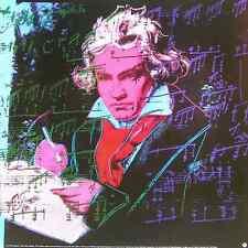 Andy Warhol Beethoven rot klein Poster Kunstdruck Bild Format 59x59cm