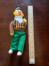 "Vintage 1970s Bert 11"" Sesame Street Plush Doll, in good condition"