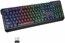 KLIM Chroma Rechargeable Wireless RGB Gaming Keyboard for PC, PS4, Xbox One, Mac