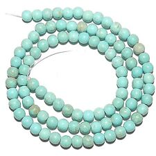 GR1496f Light Blue Turquoise 4mm Round Magnesite Gemstone Beads 15""