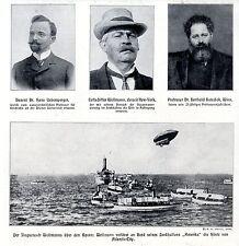 Wellmann's Ballon-Transatlantik-Überquerung Historische Aufnahme von 1910