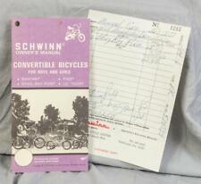 Vintage Schwinn Convertible Bicycles for Boys and Girls Owners Manual 1975 (g25)