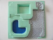 LEGO 6092 Baseplate, Raised 32 x 32 Three Level & Stone Ramp & Blue Pool Pattern