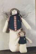 "Pattern-Primitive Snowman-Parson Brown, & 6"" Snow Ornie Too! -Harvest Gathering"