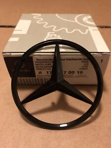 Mercedes A Class W176 Rear Boot Lid Badge Emblem Star - Gloss Black A1768170016