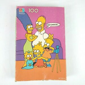 Vintage 1990 Simpsons Say Cheese 100 Pieces Jigsaw Puzzle 11x16 Ages 5+ Complete