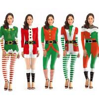Women Ladies Santa Claus Suit Christmas Festive Xmas Fancy Dress Costume Dress