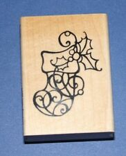 """Stampendous """"Holly Calza"""" NATALE TIMBRO"""