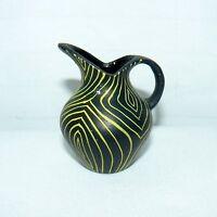 "Japanese Pottery Pitcher Vase Mini Size 2 1/2"" Tiny Hand Painted Vintage 1950's"