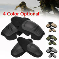 4Pcs Paintball Airsoft Combat Protective Tactical Knee Elbow Protector Pads Set