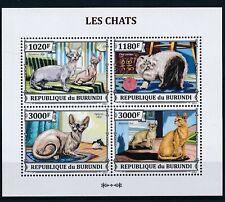 [1290] Burundi 2013 Cats good Sheet very fine MNH